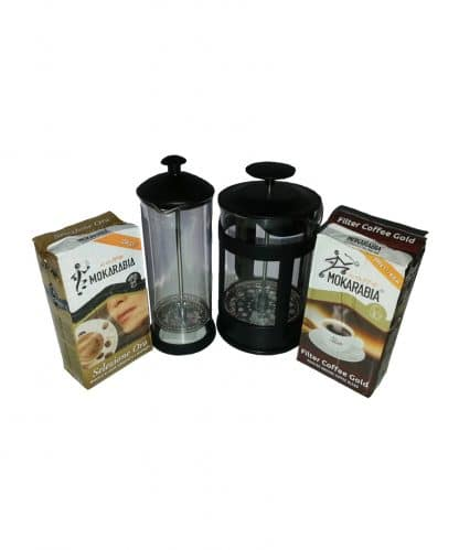 Home Coffee Staret Kit with French Press/Plunger